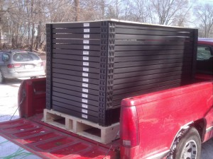 Truck load of Evergreen Panels