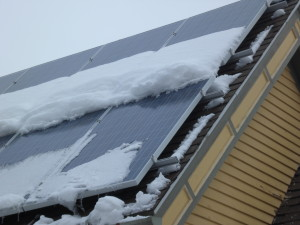 Snow Dams on Solar Panels