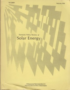 Domestic Policy Review of Solar Energy