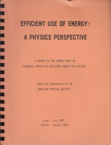 Efficient Use of Energy: A Physics Perspective