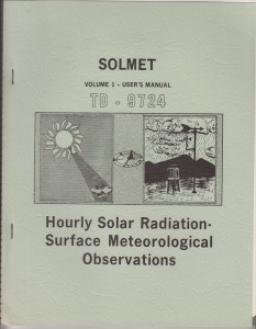 Hourly Solar Radiation Surface Meteorological Observations