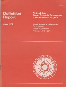National Solar Energy Research Development and Demonstration Program
