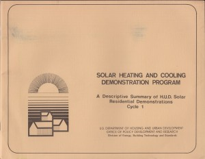 Solar Heating and Cooling Demonstration Program