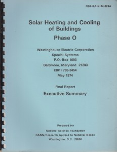 Solar Heating and Cooling of Buildings by Westinghouse