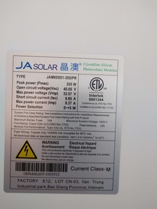 Solar panel tag