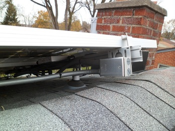 Junction box under solar panels