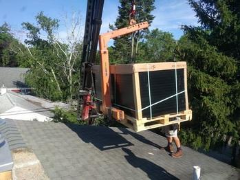 Solar panels being delivered