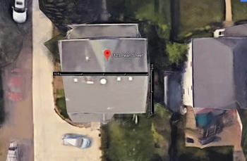Google map view of roof
