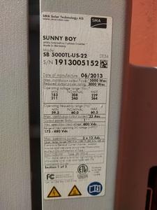SunnyBoy inverter
