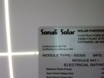 300-watt solar panels