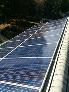 The final solar installation