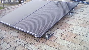 Tow panels installed on the roof