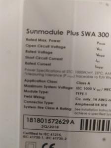 300W solar panels