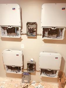 Four Sunny Boy inverters