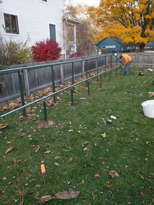 Adding rails to the posts