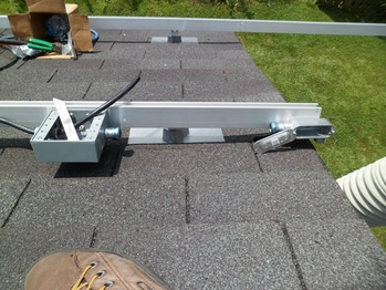 Installing jbox and conduit on the garage roof