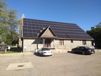 The finished solar installation