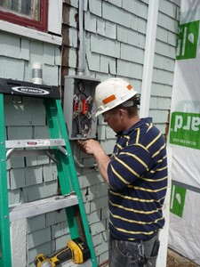 Installing the new meter box