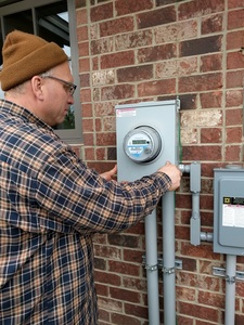 Checking the utility meter