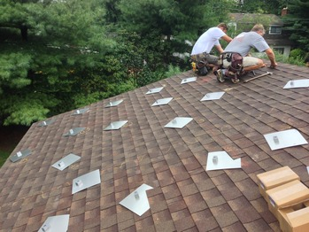 Laying out the roof mounts