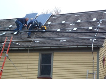 First panels on the roof
