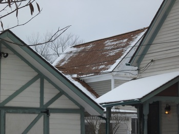 Close up of roof from Grove Street