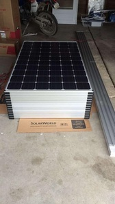 Solar panels ready to install