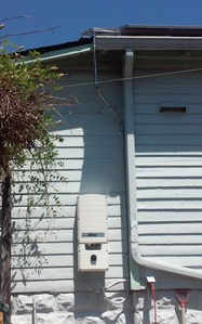 Inverter on the side of the house