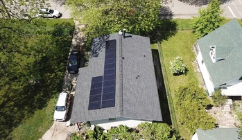 Finish solar installation