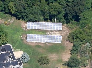 Aerialphoto of Solar Panels