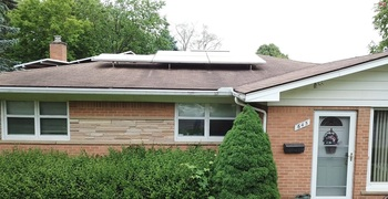 Finish solar installation from the front of the house