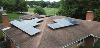 Finish solar installation from above