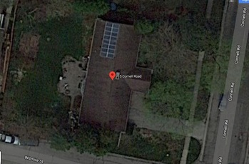 Final solar installation, Google Maps