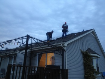 Finishing up the solar installation