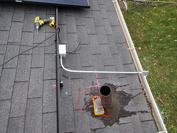 Junction box to bring the power off the roof