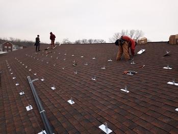 Installing the solar racking