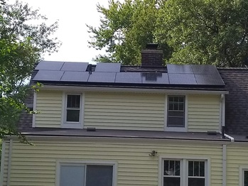 Finished solar on the back of the home