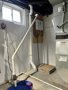 New tankless hot water heater