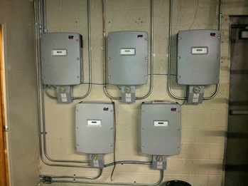 Five SunnyBoy 6000-watt inverters