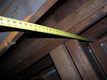 Measuring the roof joists
