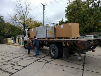Delivery of the solar panels