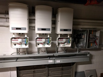 Inverters, combiner box, and meter socket