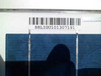 Solar panel serial number