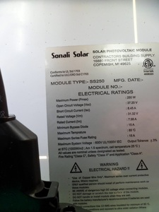 SolarPanel information label
