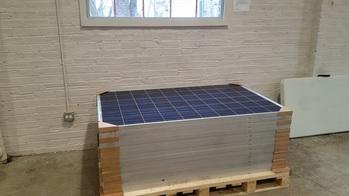 14 donated solar panels