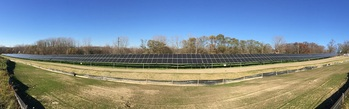 Finished solar installation