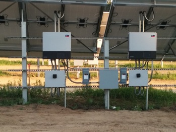 Two of the 24 inverters
