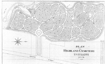 Highland Cemetery original plan