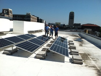 Final solar installtion on roof