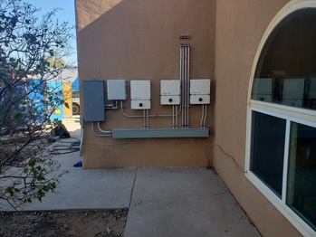 SolarEdge inverters on the wall